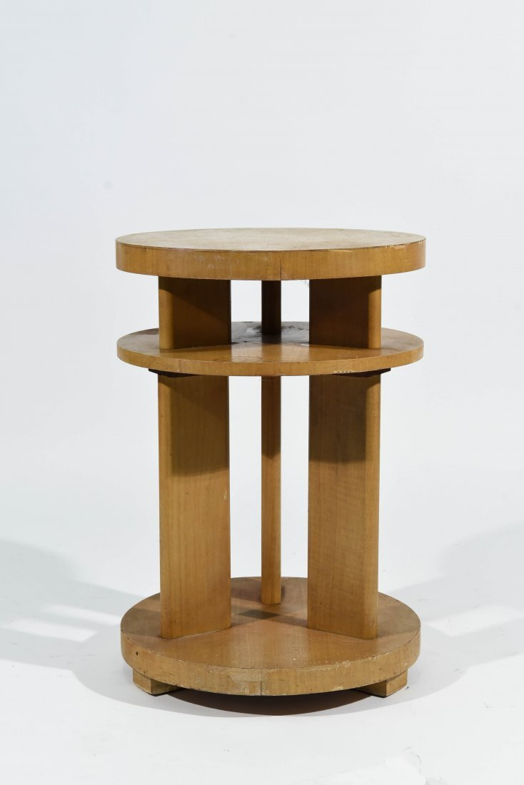 ART DECO GERALD SUMMERS STYLE END TABLE