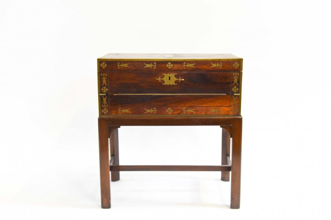 ANTIQUE WRITING DESK ON STAND
