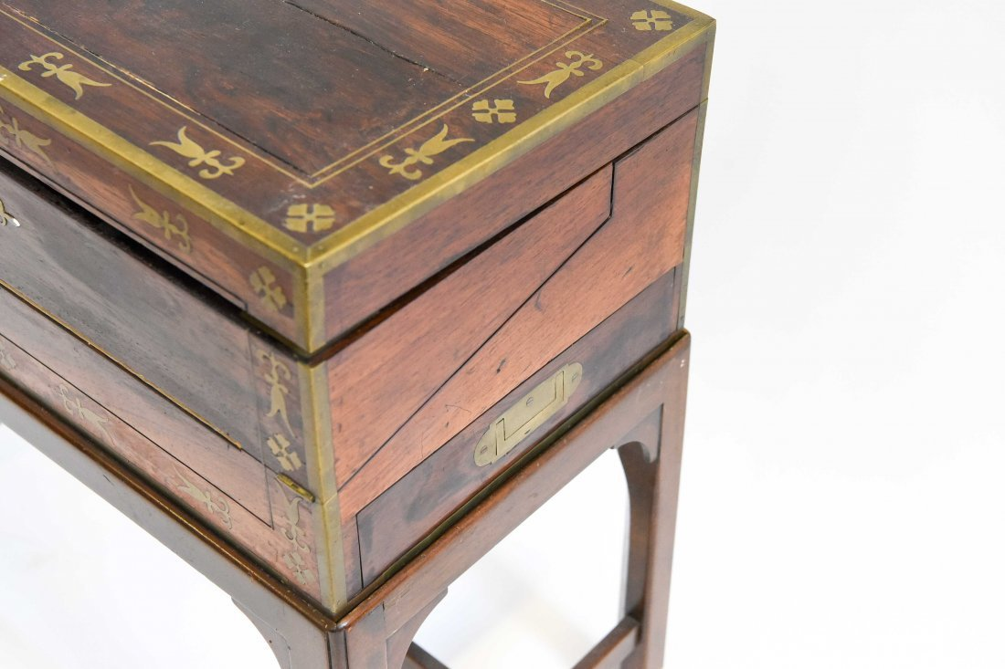 ANTIQUE WRITING DESK ON STAND - 3