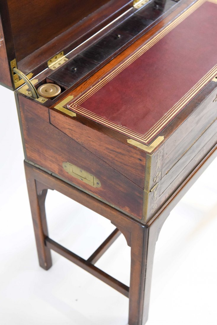 ANTIQUE WRITING DESK ON STAND - 7