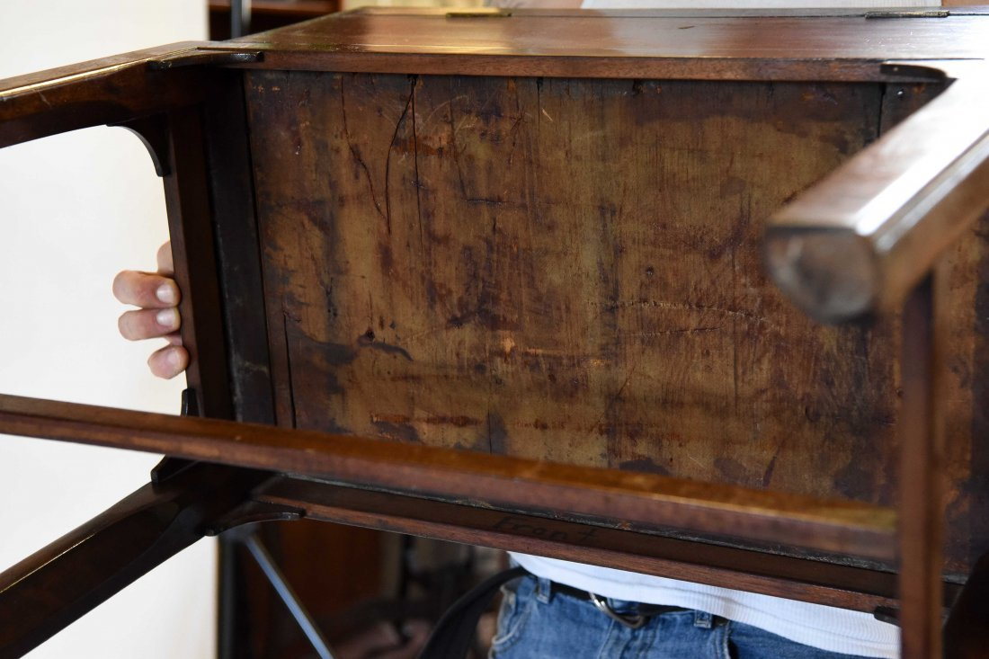 ANTIQUE WRITING DESK ON STAND - 9
