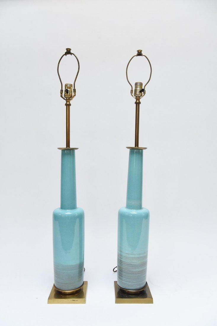 PAIR 1960S STIFFEL CERAMIC TABLE LAMPS