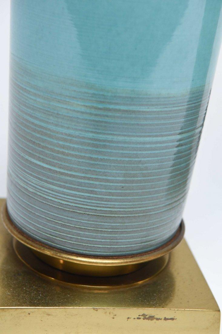 PAIR 1960S STIFFEL CERAMIC TABLE LAMPS - 3