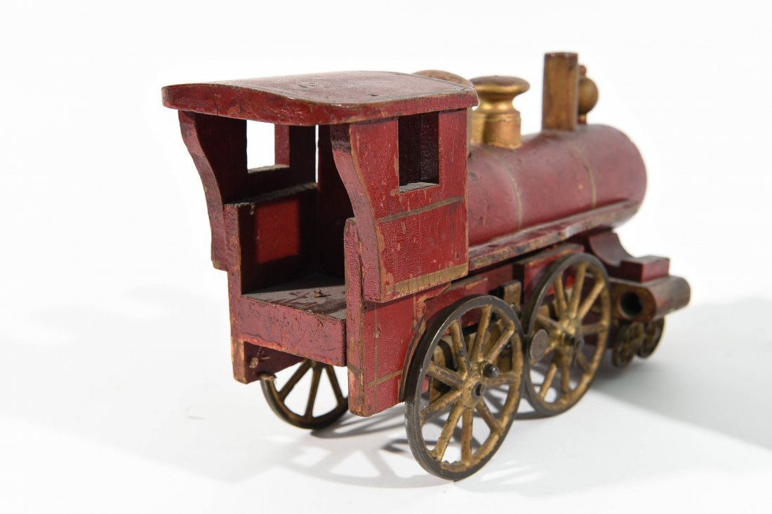 ANTIQUE WINDUP IRON TOY TRAIN - 10