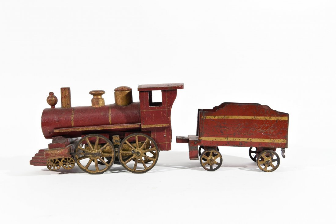 ANTIQUE WINDUP IRON TOY TRAIN