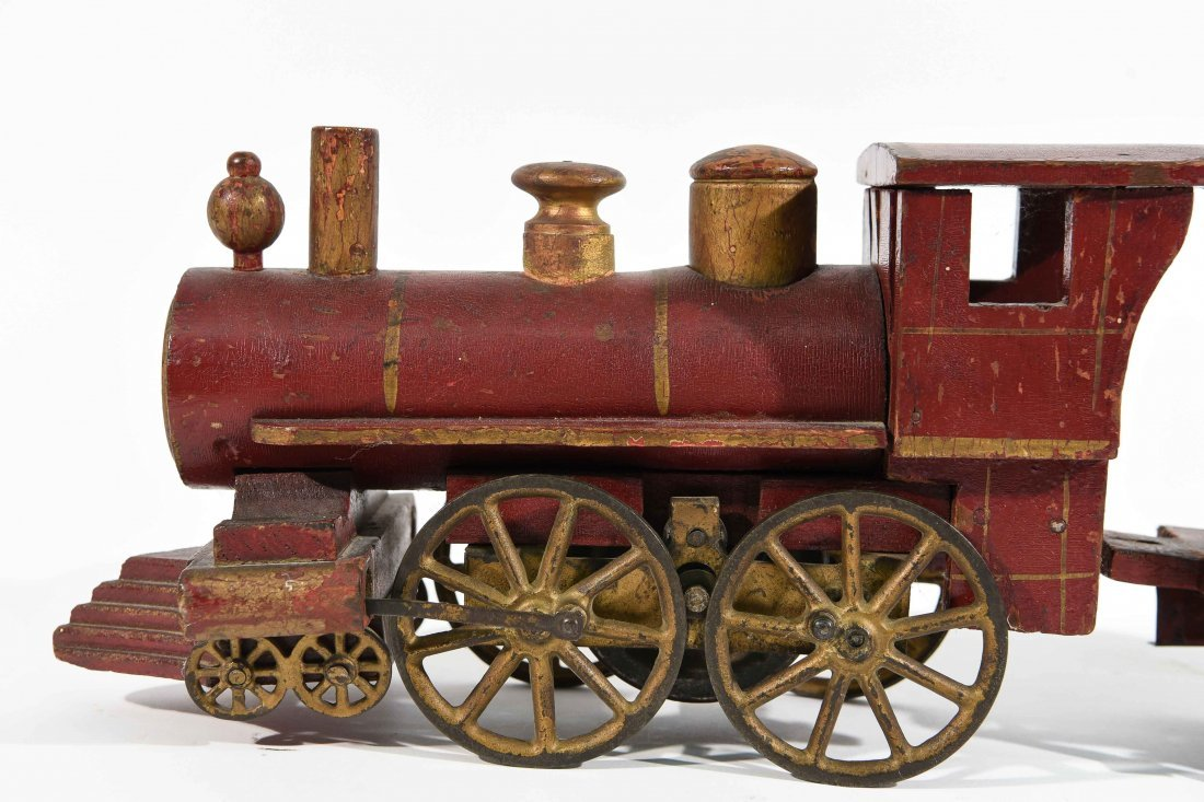 ANTIQUE WINDUP IRON TOY TRAIN - 2