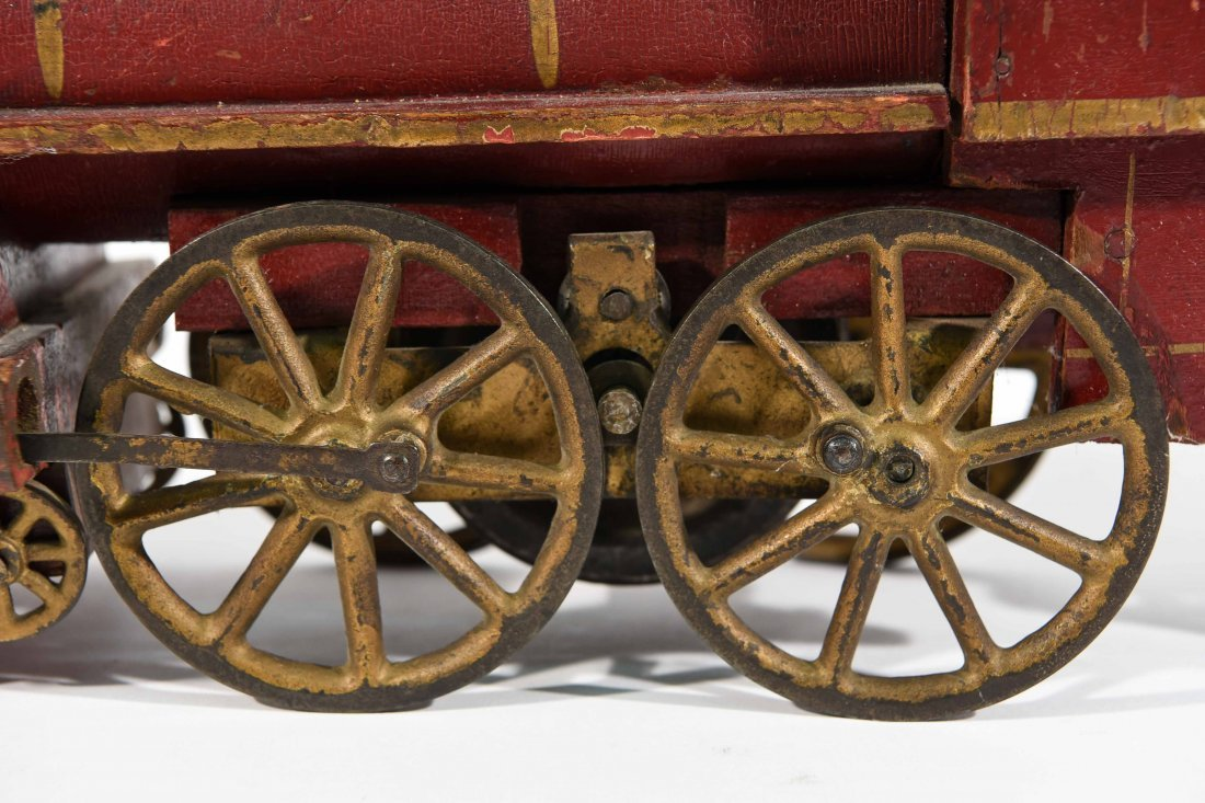 ANTIQUE WINDUP IRON TOY TRAIN - 3