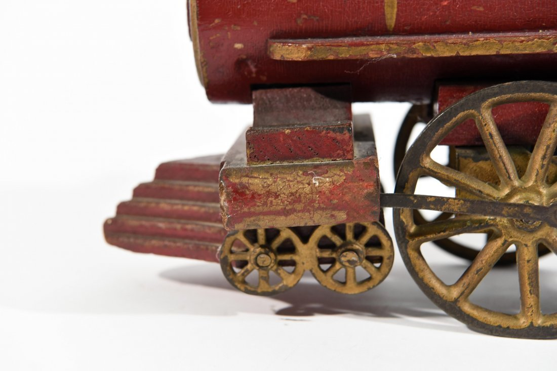 ANTIQUE WINDUP IRON TOY TRAIN - 4