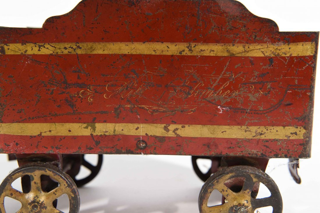 ANTIQUE WINDUP IRON TOY TRAIN - 8