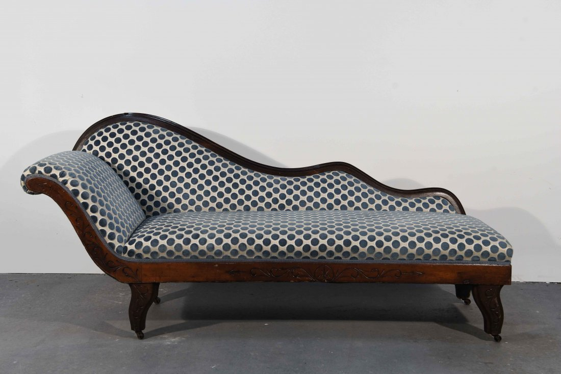 19TH C. CHAISE LOUNGE