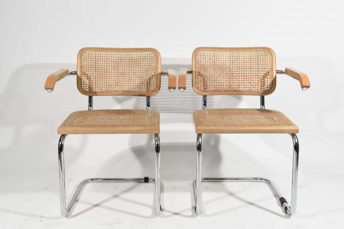 PAIR OF BRUER CESCA STYLE CHAIRS