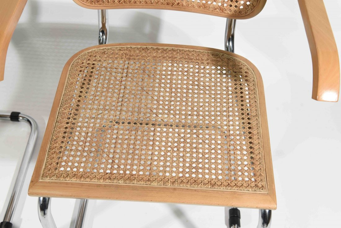 PAIR OF BRUER CESCA STYLE CHAIRS - 2
