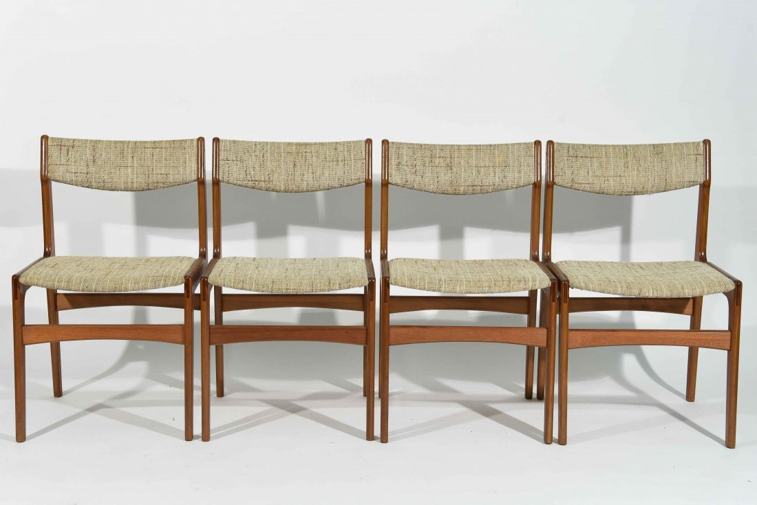 (4) DANISH TEAK DINING CHAIRS