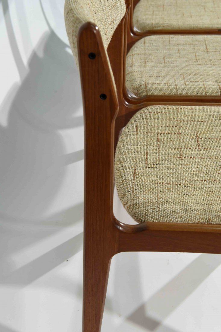 (4) DANISH TEAK DINING CHAIRS - 6