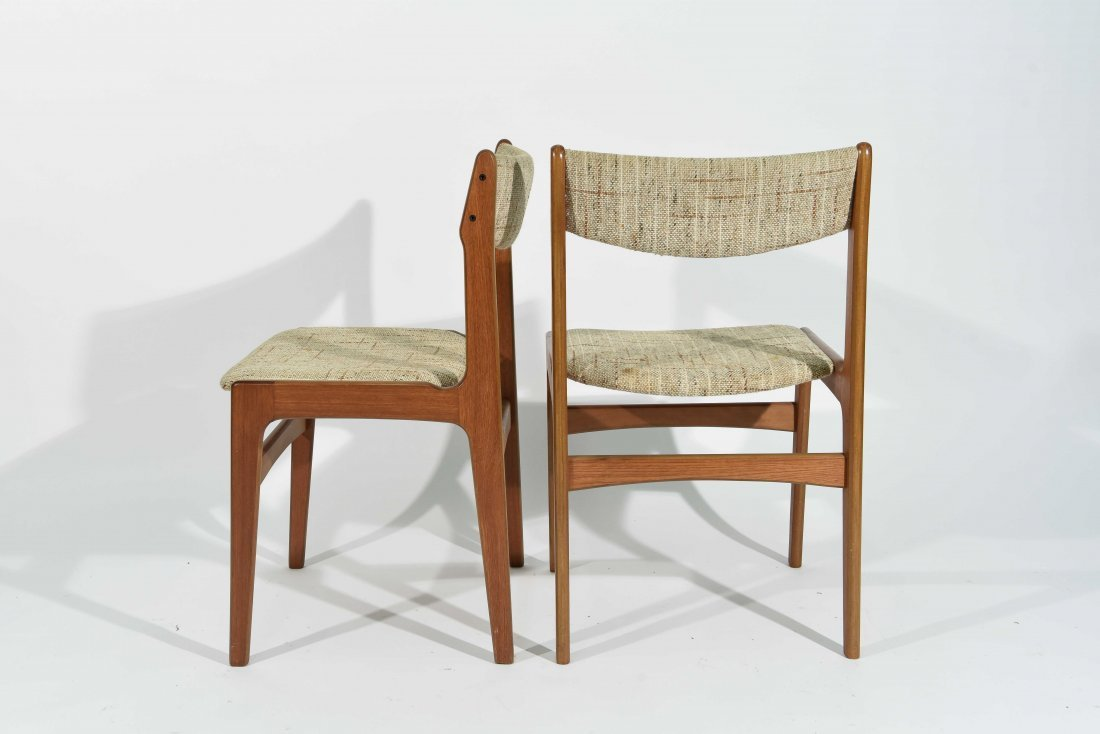 (4) DANISH TEAK DINING CHAIRS - 7
