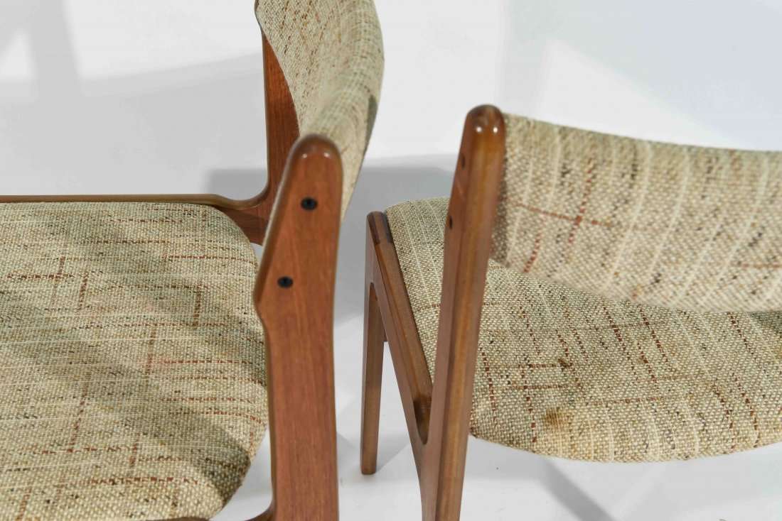 (4) DANISH TEAK DINING CHAIRS - 8