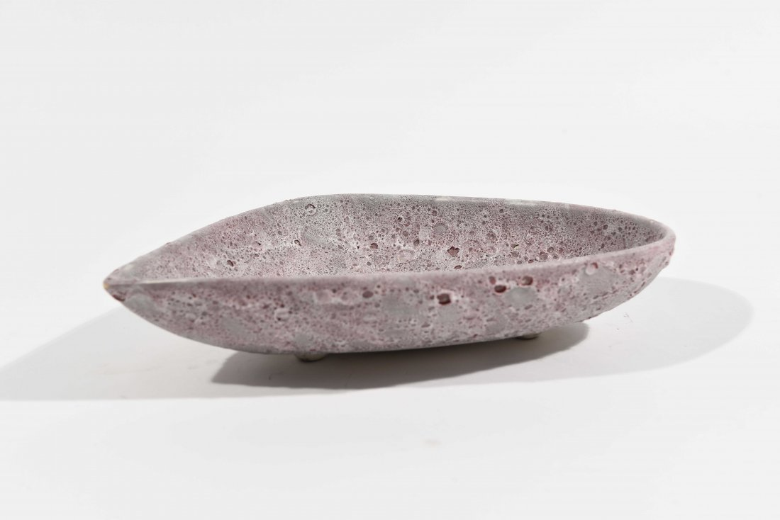 LARGE LAVA GLAZED CENTERPIECE BOWL