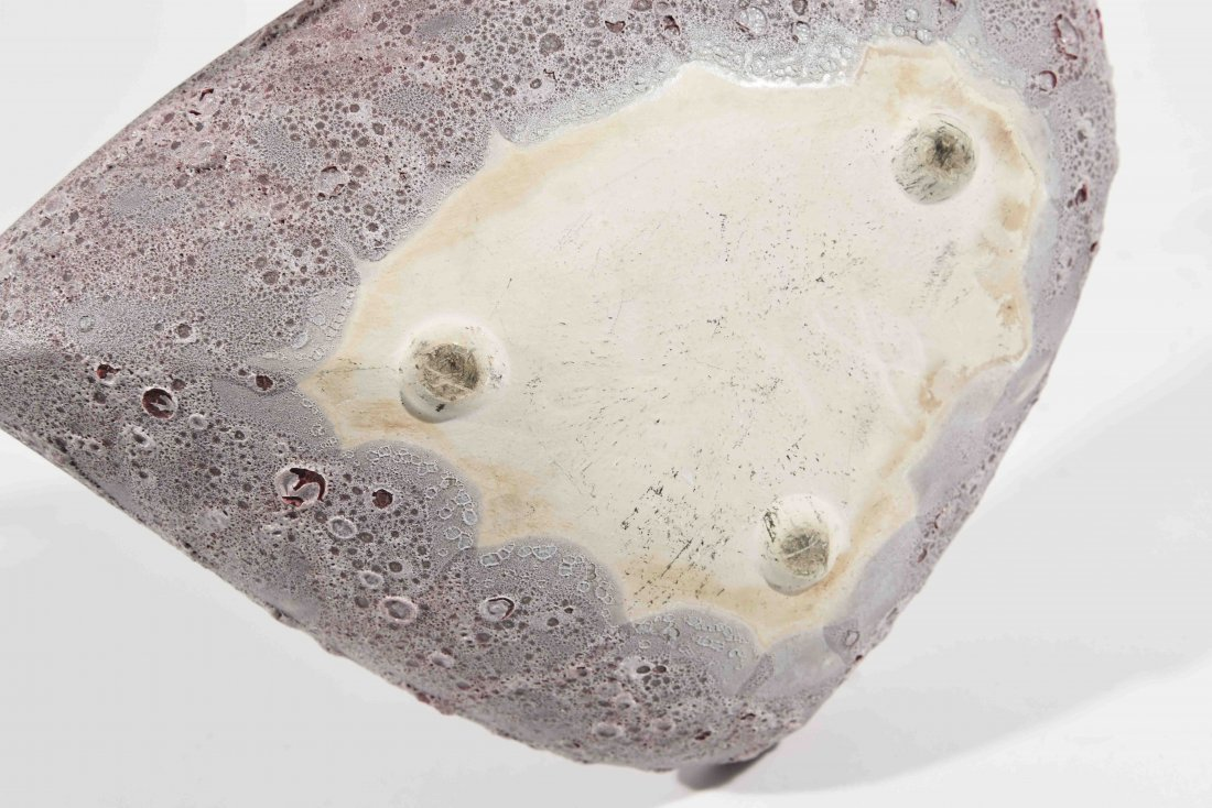 LARGE LAVA GLAZED CENTERPIECE BOWL - 3