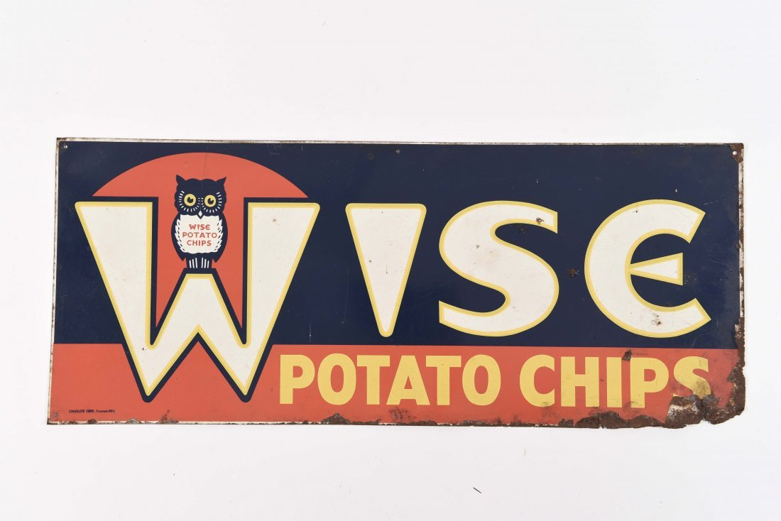 WISE POTATO CHIP ADVERTISING SIGN