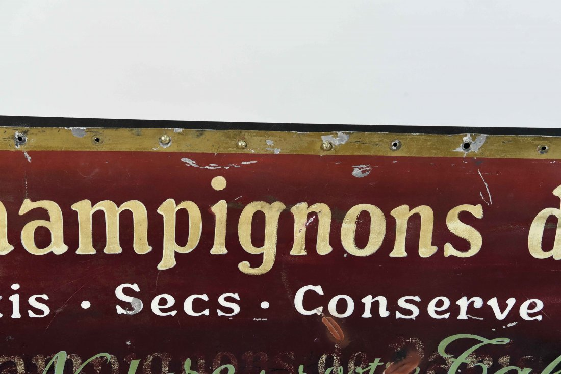 CHAMPIGNONS DES BOIS PAINTED FRENCH SIGN - 2