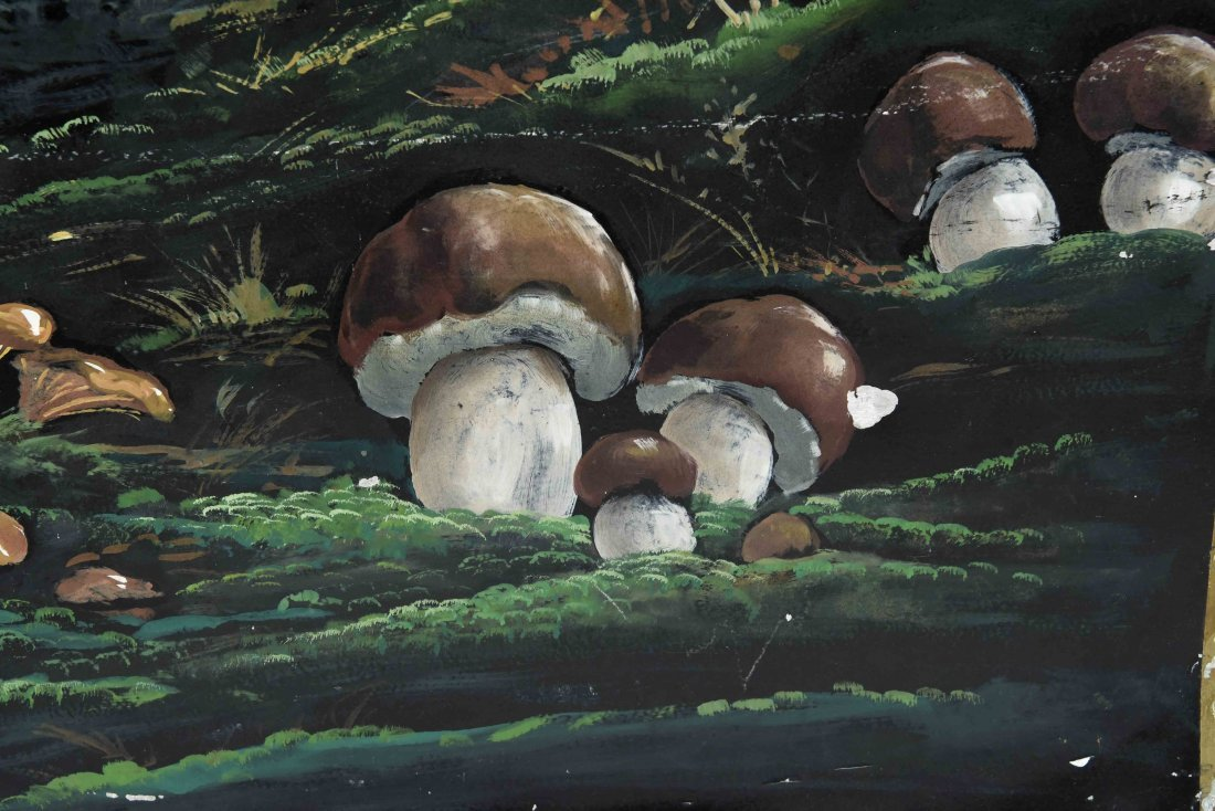 CHAMPIGNONS DES BOIS PAINTED FRENCH SIGN - 4