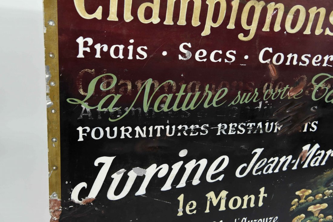 CHAMPIGNONS DES BOIS PAINTED FRENCH SIGN - 7