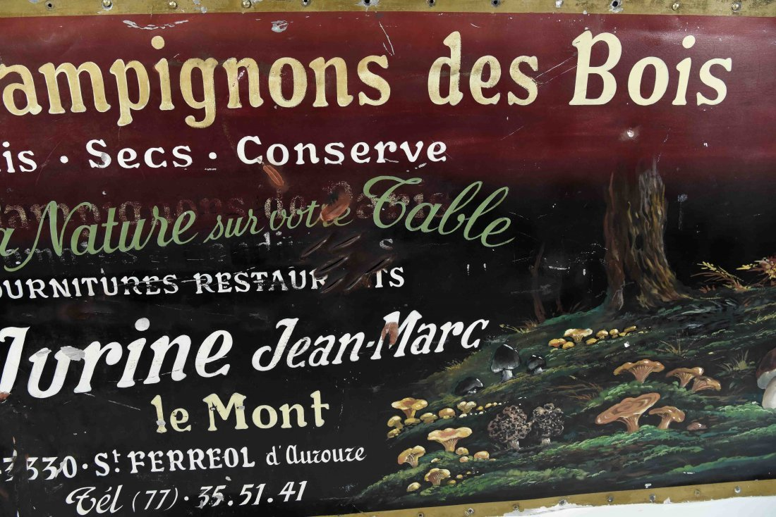 CHAMPIGNONS DES BOIS PAINTED FRENCH SIGN - 8