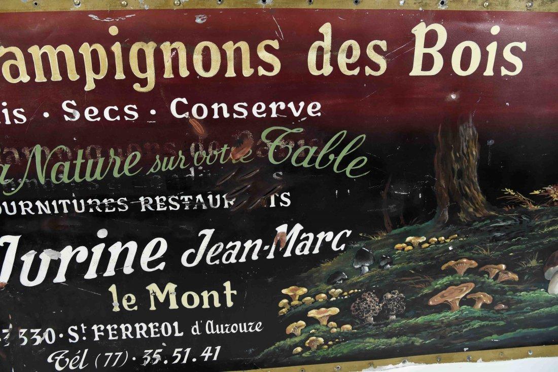 CHAMPIGNONS DES BOIS PAINTED FRENCH SIGN - 8