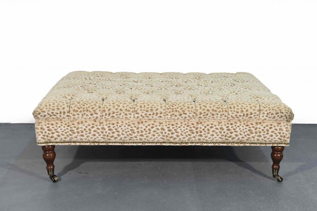 GEORGE SMITH STYLE OVERSIZED TUFTED OTTOMAN