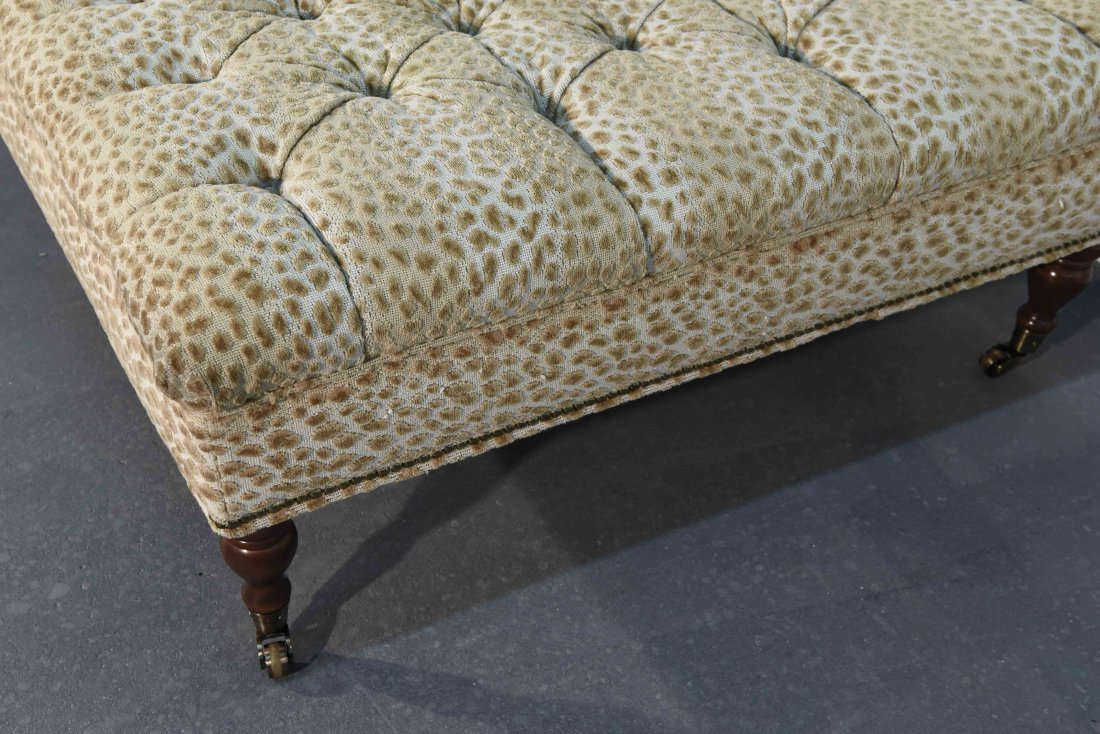 GEORGE SMITH STYLE OVERSIZED TUFTED OTTOMAN - 4