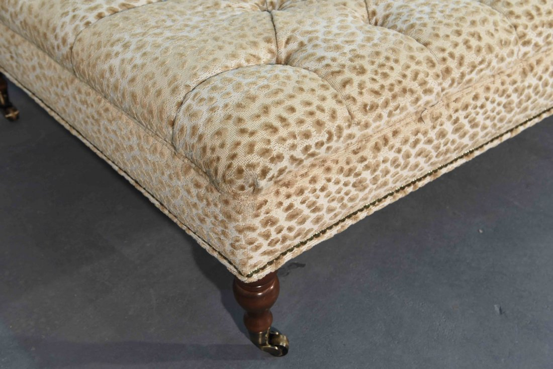 GEORGE SMITH STYLE OVERSIZED TUFTED OTTOMAN - 5