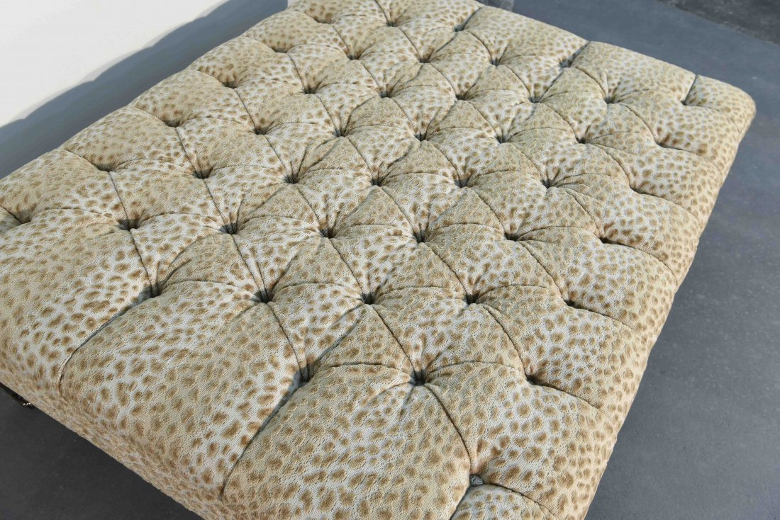 GEORGE SMITH STYLE OVERSIZED TUFTED OTTOMAN - 6