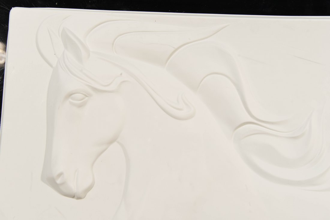 A. SOMBRAS BAS RELIEF WITH WILD HORSES - 3