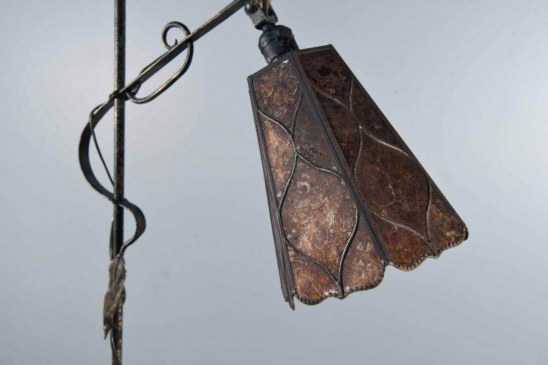 ART NOUVEAU FLOOR LAMP WITH FLORAL MOTIF - 2