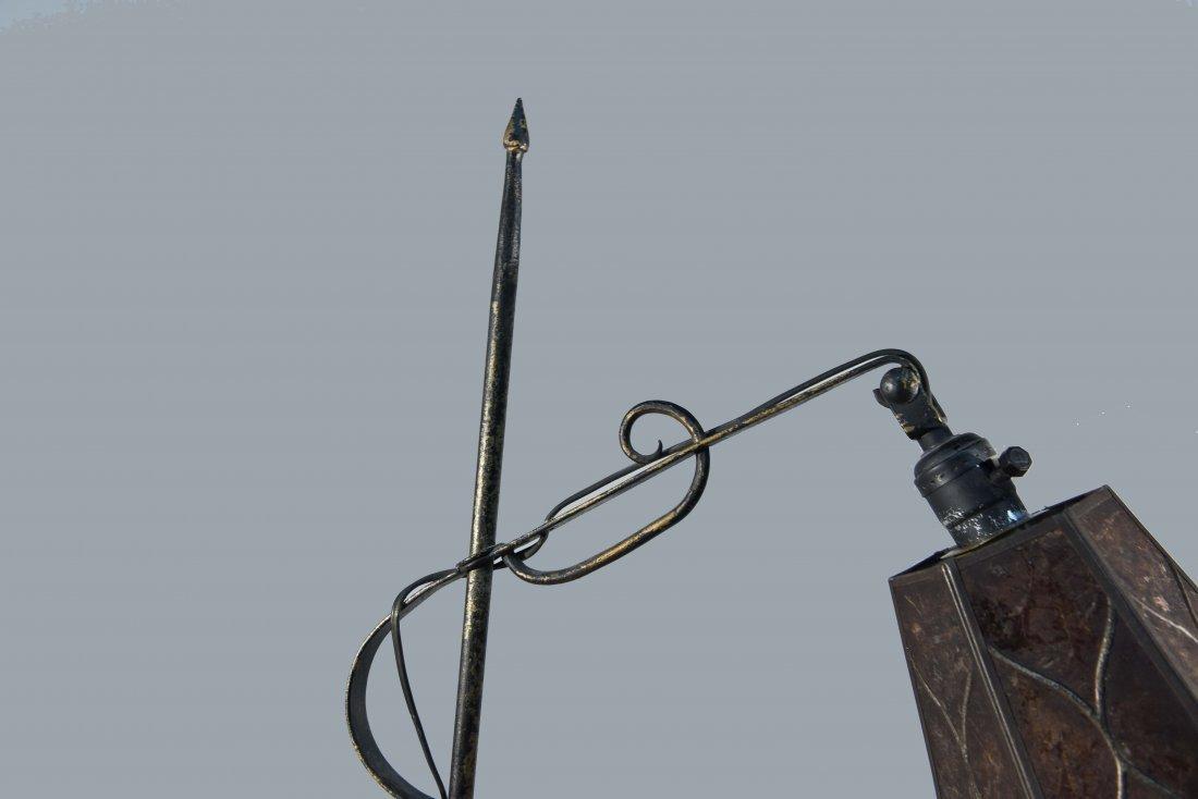 ART NOUVEAU FLOOR LAMP WITH FLORAL MOTIF - 3