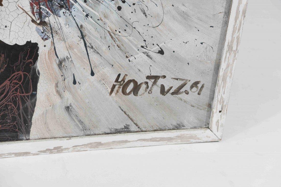 HOOT VON ZITEWITZ HOOTVZ 1961 ABSTRACT PAINTING - 5