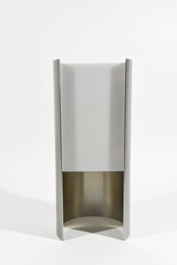 ITALIAN CHROME AND PLASTIC SEMICIRCLE LAMP