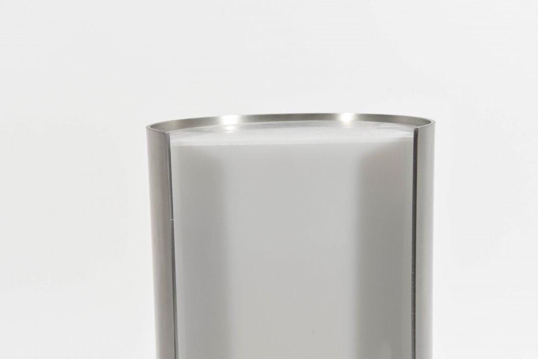ITALIAN CHROME AND PLASTIC SEMICIRCLE LAMP - 2