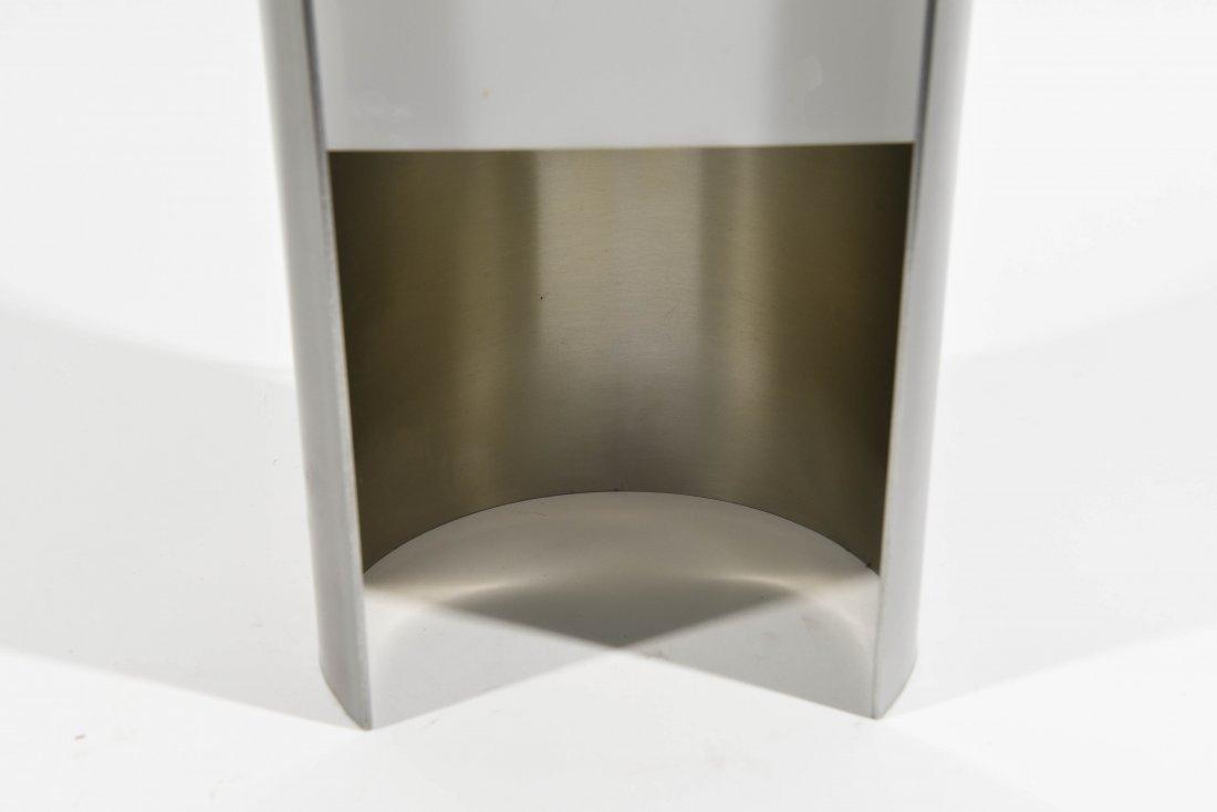 ITALIAN CHROME AND PLASTIC SEMICIRCLE LAMP - 3