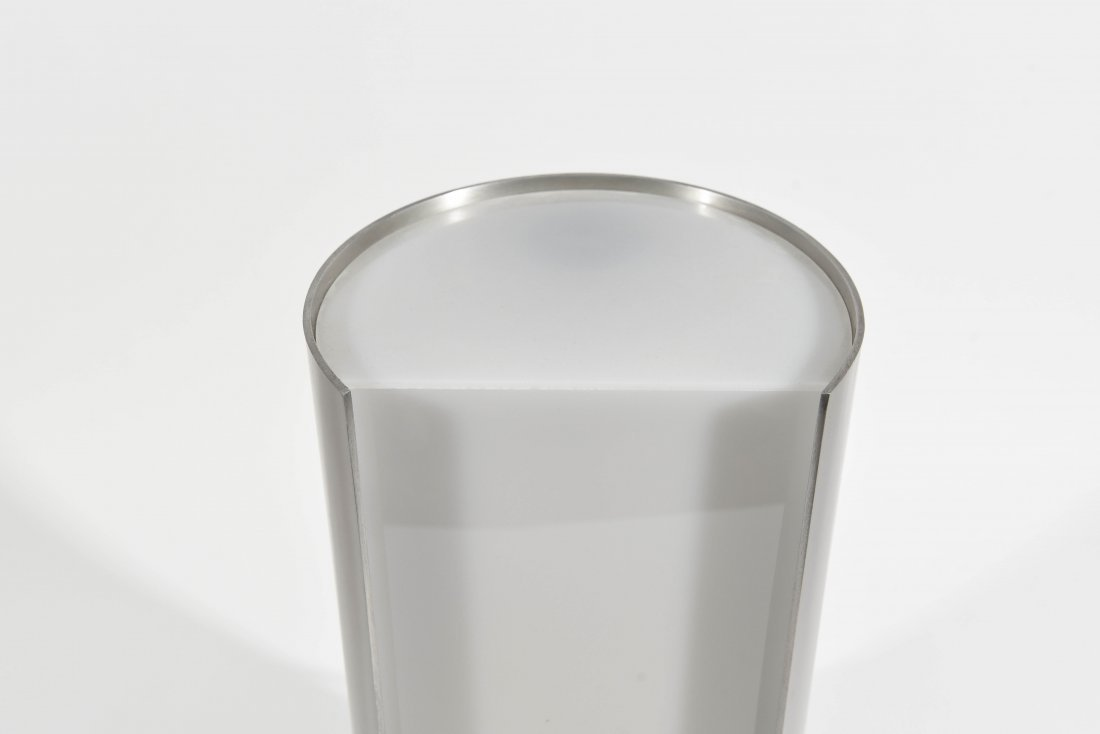 ITALIAN CHROME AND PLASTIC SEMICIRCLE LAMP - 4