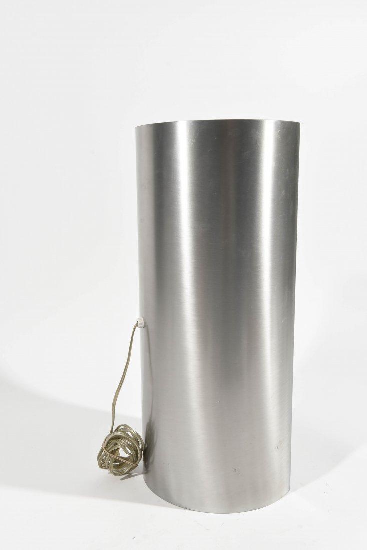 ITALIAN CHROME AND PLASTIC SEMICIRCLE LAMP - 5