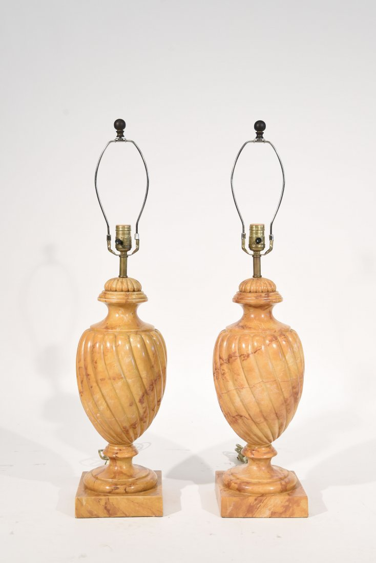 FAUX PAINTED MARBLE LAMPS