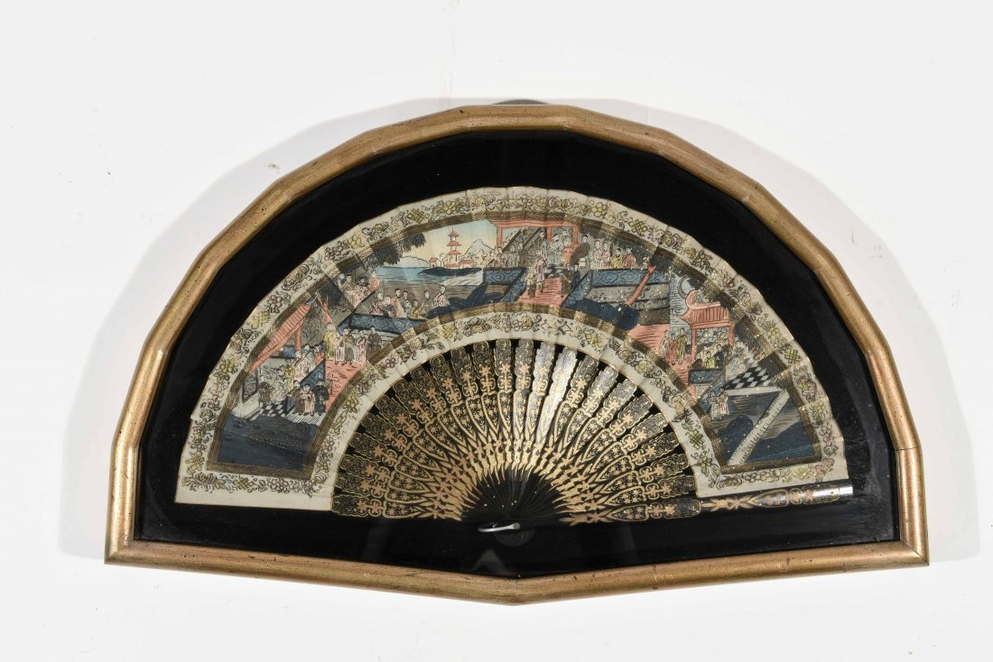 ANTIQUE HAND PAINTED FAN