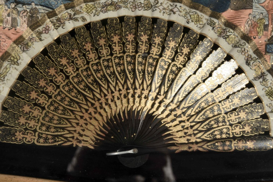 ANTIQUE HAND PAINTED FAN - 2