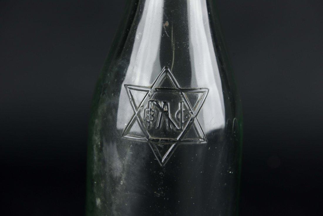 JEWISH GLASS BOTTLE - 2