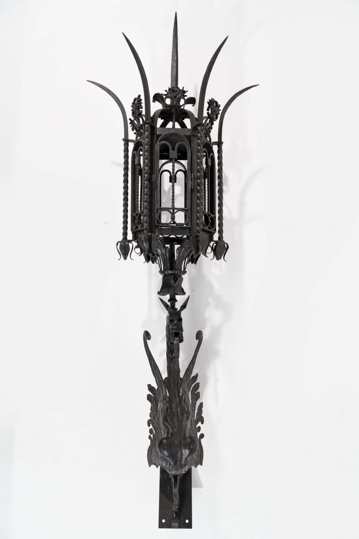 WROUGHT IRON SCONCE - 2