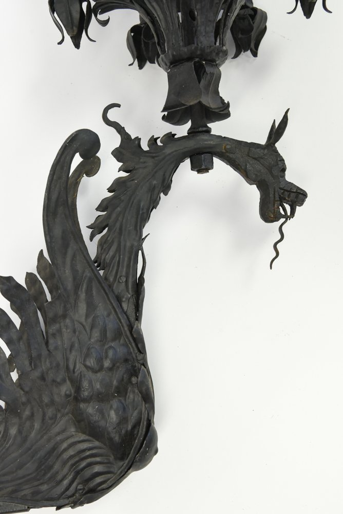 WROUGHT IRON SCONCE - 5