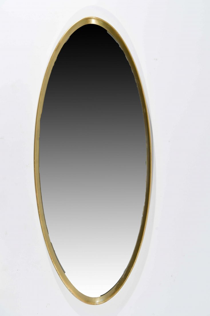 CIRCA 1960S GILT WOOD OVAL MIRROR