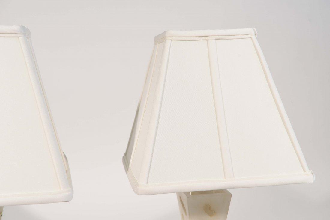 PAIR OF ALABASTER LAMPS - 6