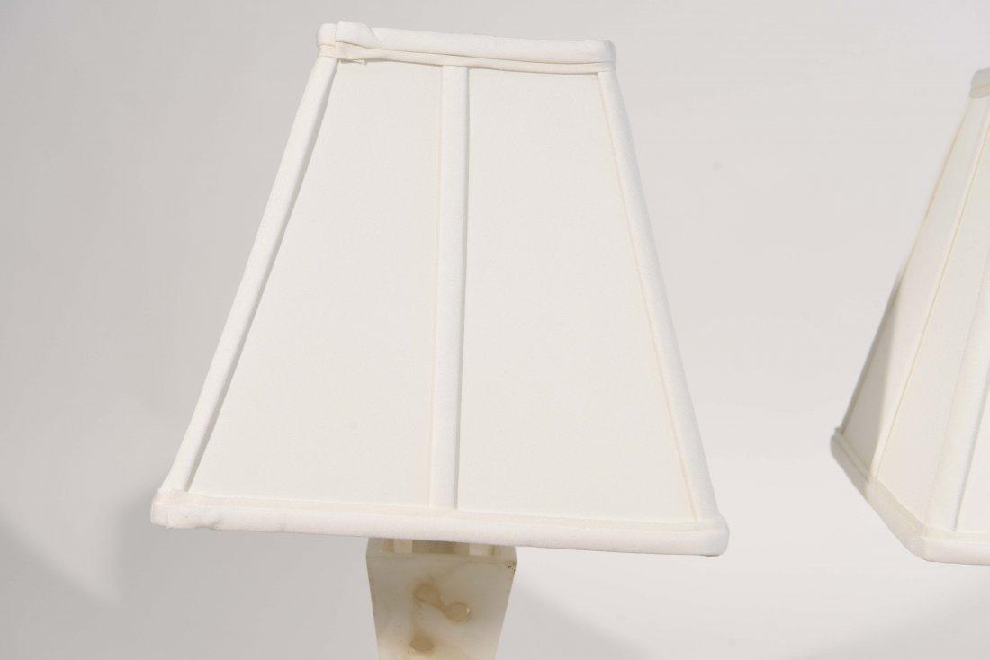 PAIR OF ALABASTER LAMPS - 7